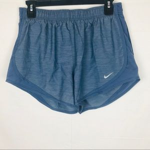 Nike Dri Fit Blue Athletic Shorts Lined Medium